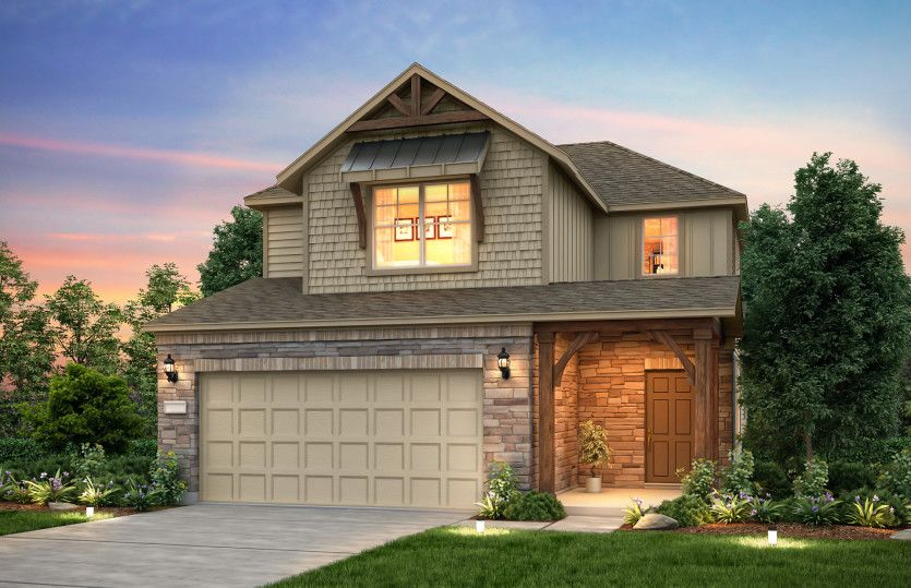 Exterior featured in the Harrison By Pulte Homes in Houston, TX