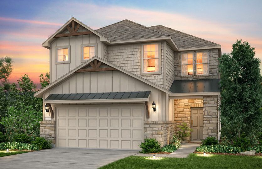 Exterior featured in the Nelson By Pulte Homes in Houston, TX