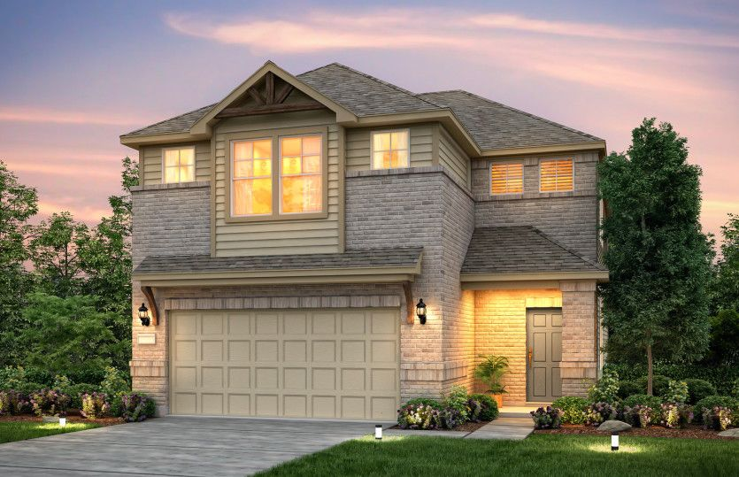 Exterior featured in the Sienna By Pulte Homes in Houston, TX