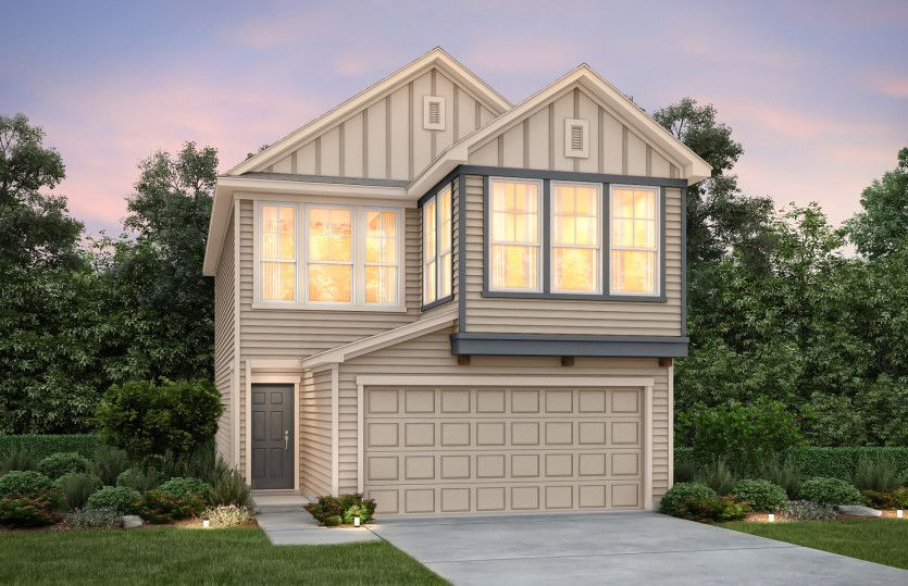 Exterior featured in the Fallbrook By Pulte Homes in Houston, TX