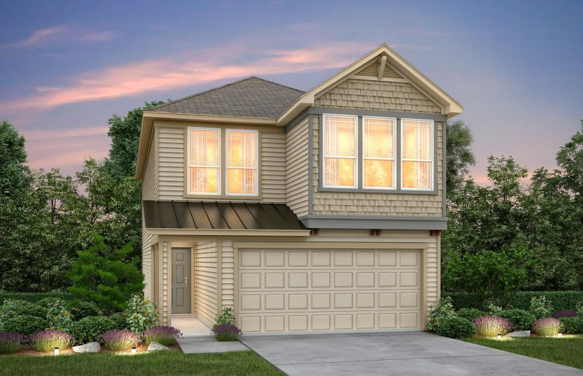 Exterior featured in the Appleridge By Pulte Homes in Houston, TX