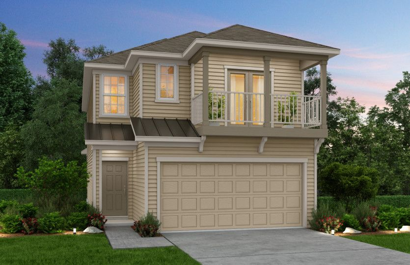 Exterior featured in the Pinehurst By Pulte Homes in Houston, TX
