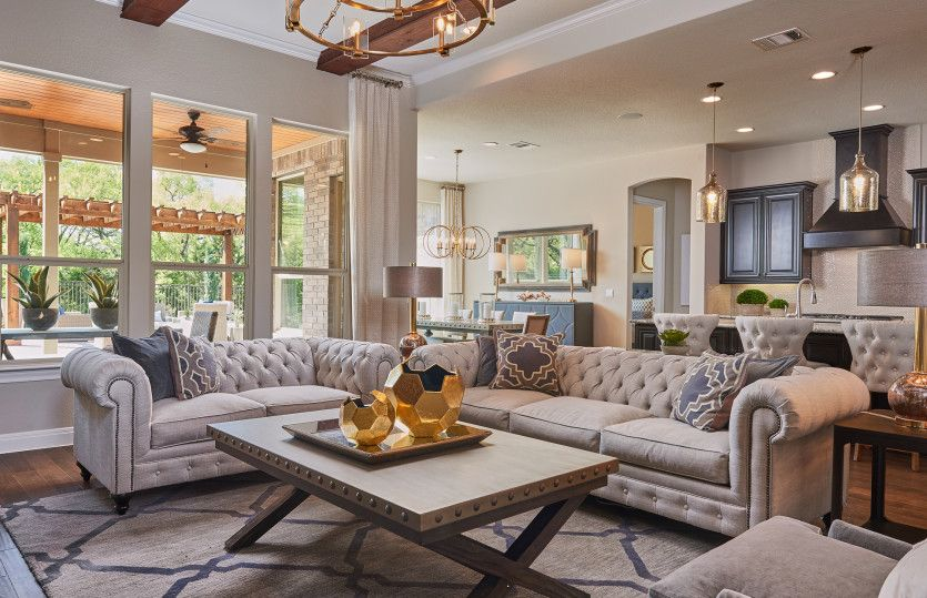 Greatroom-and-Dining-in-Ambassador-at-The Preserve-in-Cypress