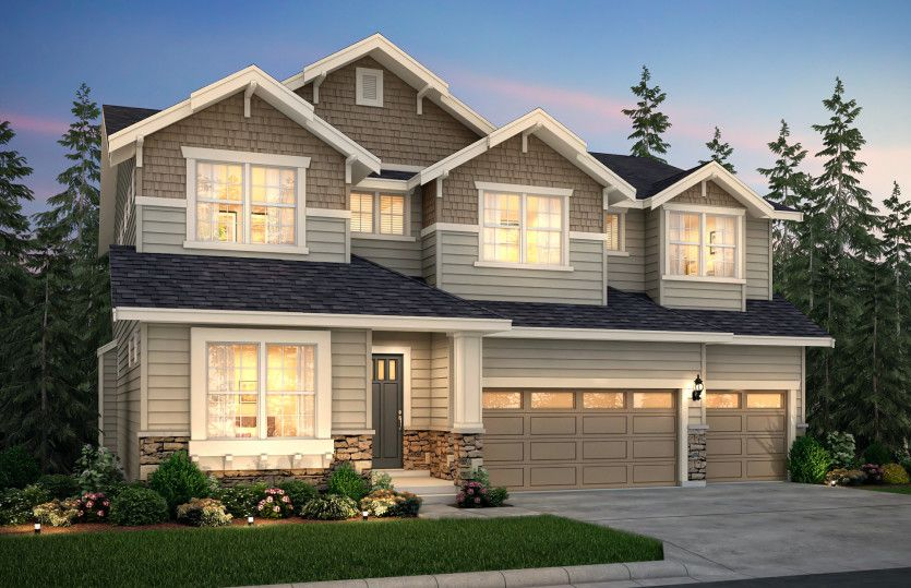 Exterior featured in the Davenport By Pulte Homes in Seattle-Bellevue, WA