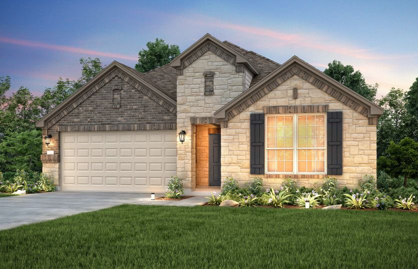 Exterior featured in the Dayton By Pulte Homes in San Antonio, TX