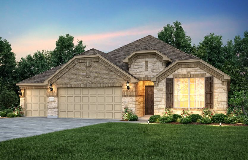 Exterior featured in the Sheldon By Pulte Homes in Dallas, TX