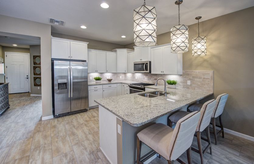 Kitchen-in-Trailwood - Interior Unit-at-Longleaf at Oakland-in-Winter Garden
