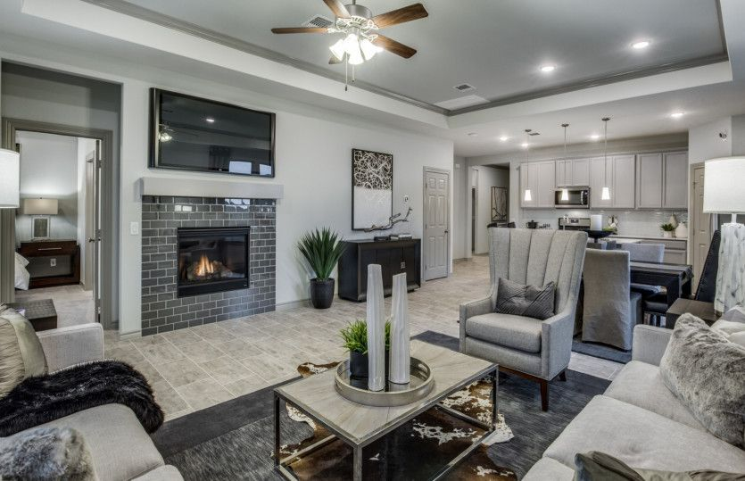 Living Area featured in the Oakmont By Pulte Homes in San Antonio, TX