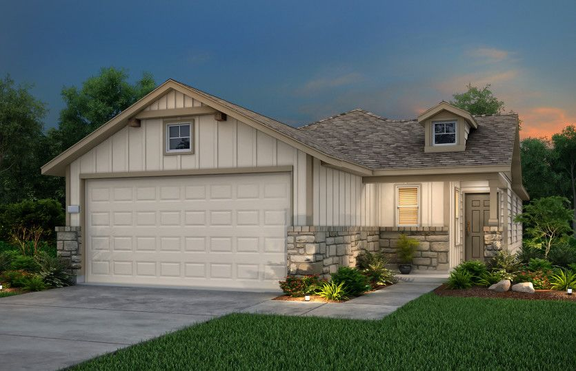 Exterior featured in the Adams By Pulte Homes in Austin, TX