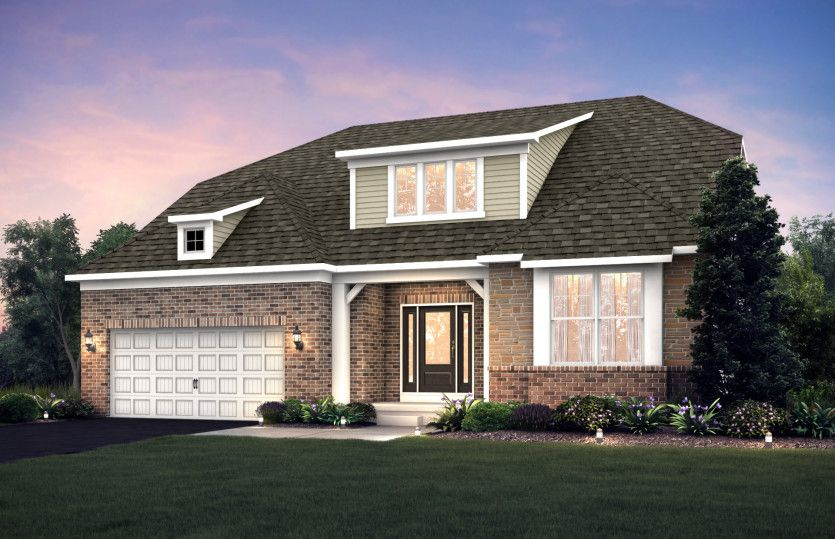 Exterior featured in the Bourges By Pulte Homes in Columbus, OH