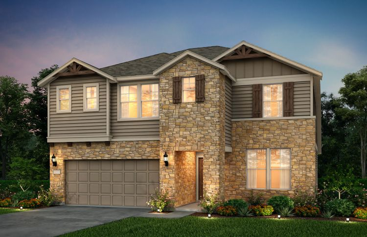 Exterior featured in the Sweetwater By Pulte Homes in Dallas, TX