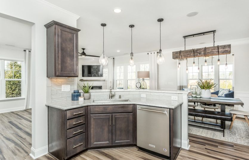 Kitchen-in-Stetson-at-Woodbury-in-New Hill