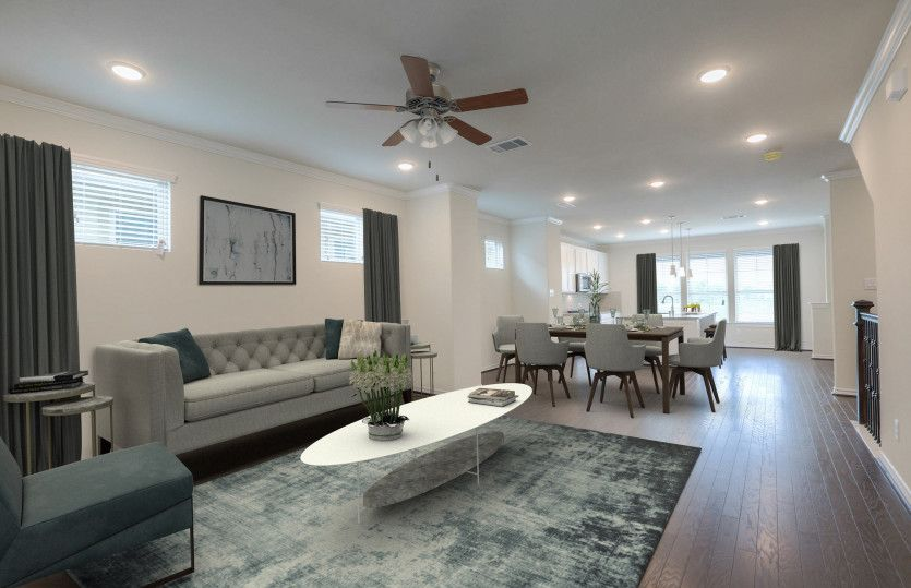 Living Area featured in the Rosenberg By Pulte Homes in Houston, TX