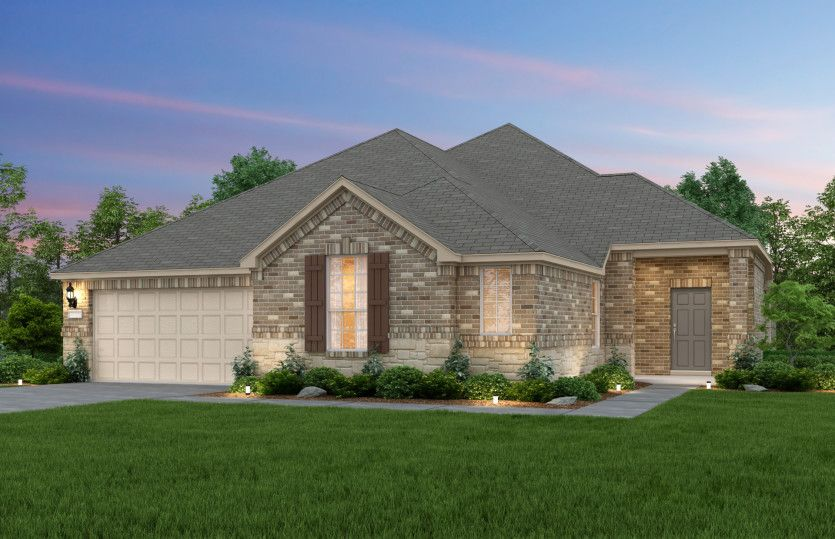 Exterior featured in the Argyle By Pulte Homes in Houston, TX