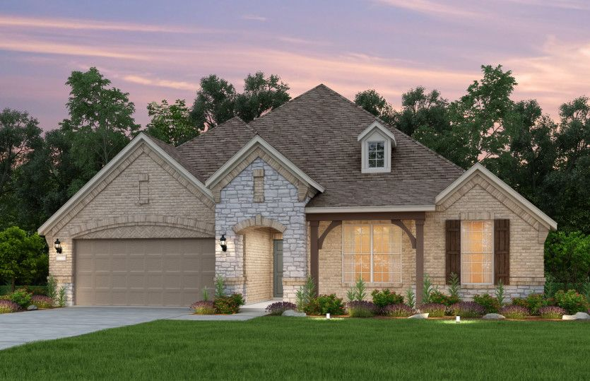 Exterior featured in the Kennedale By Pulte Homes in Houston, TX