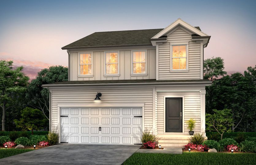 Exterior featured in the Preston By Pulte Homes in Raleigh-Durham-Chapel Hill, NC