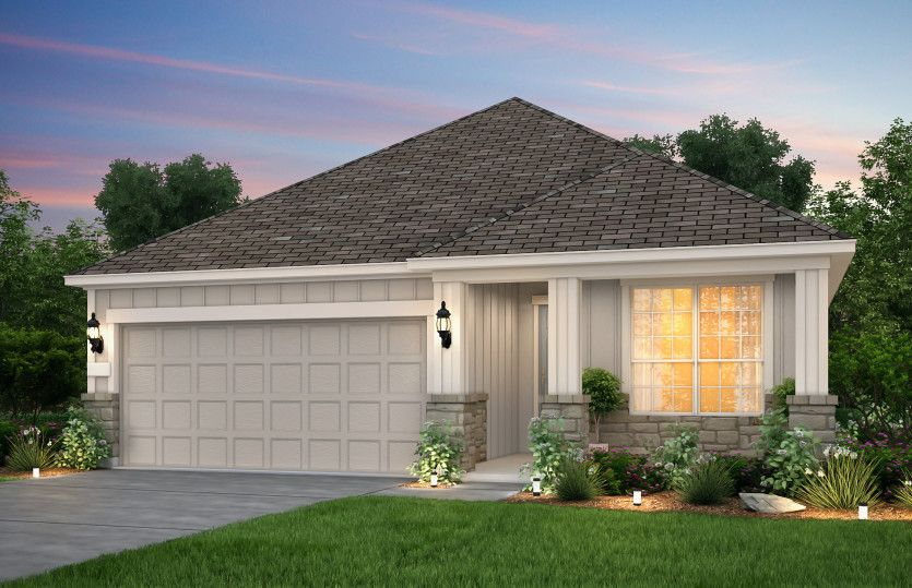 Exterior featured in the Oakmont By Pulte Homes in Austin, TX