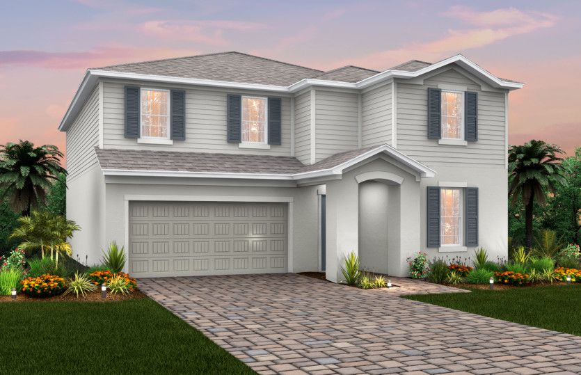 Exterior featured in the Sandhill By Pulte Homes in Martin-St. Lucie-Okeechobee Counties, FL
