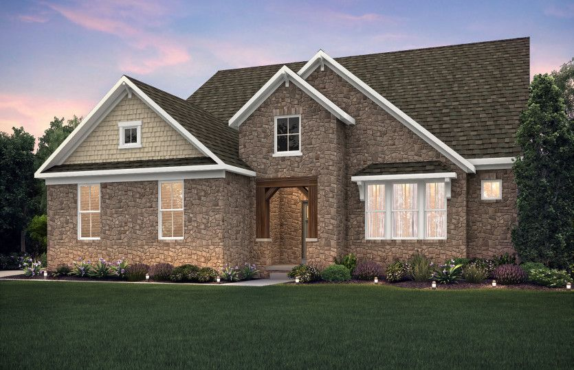 Exterior featured in the Lyon By Pulte Homes in Cleveland, OH