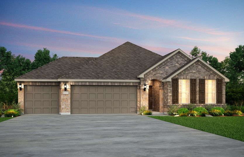 Exterior featured in the Arlington - 3-Car Garage By Pulte Homes in San Antonio, TX