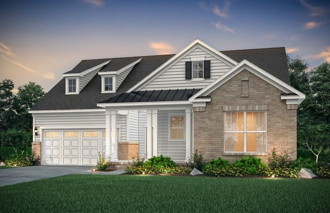 Bridgestone:Bridgestone Exterior LC3S features siding, brick and covered front porch