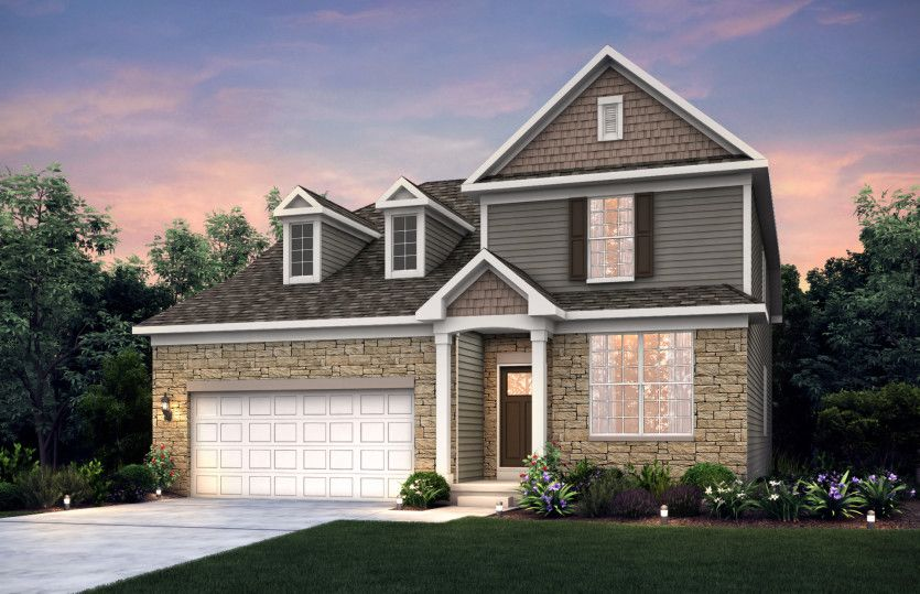 Exterior featured in the Linwood By Pulte Homes in Columbus, OH
