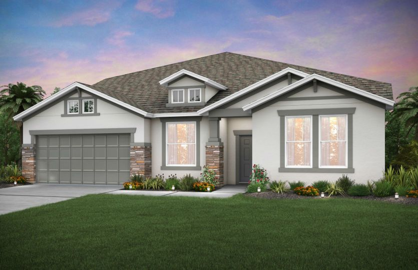 Exterior featured in the Dockside By Pulte Homes in Orlando, FL