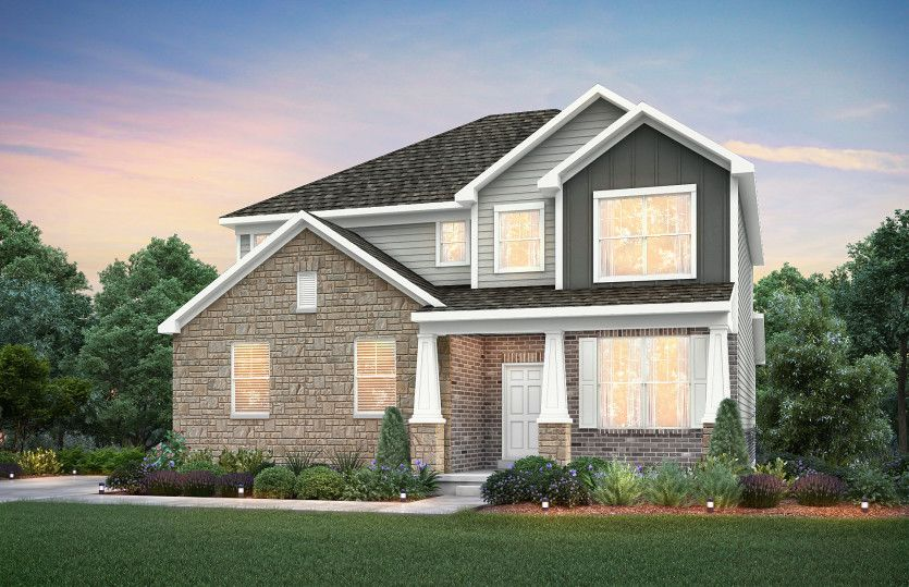 Exterior featured in the Continental By Pulte Homes in Indianapolis, IN