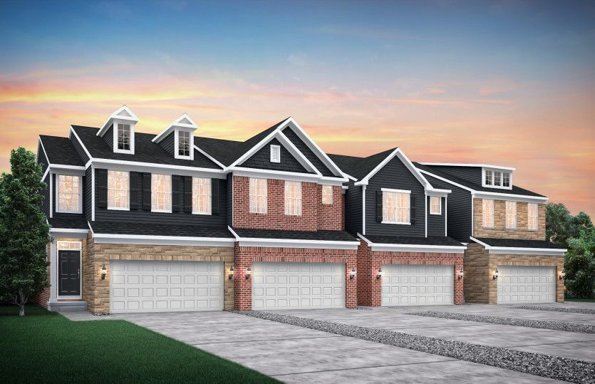 Exterior featured in the Cascade By Pulte Homes in Ann Arbor, MI