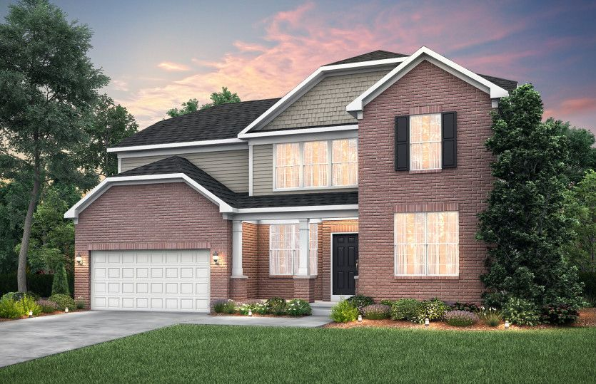 Exterior featured in the Castleton By Pulte Homes in Ann Arbor, MI