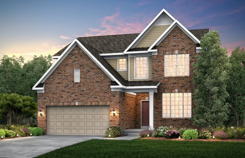 Exterior featured in the Newberry By Pulte Homes in Ann Arbor, MI