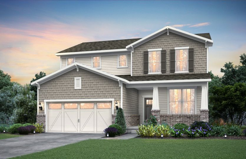 Exterior featured in the Newberry By Pulte Homes in Indianapolis, IN