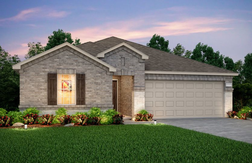 Exterior featured in the Rayburn By Pulte Homes in Fort Worth, TX