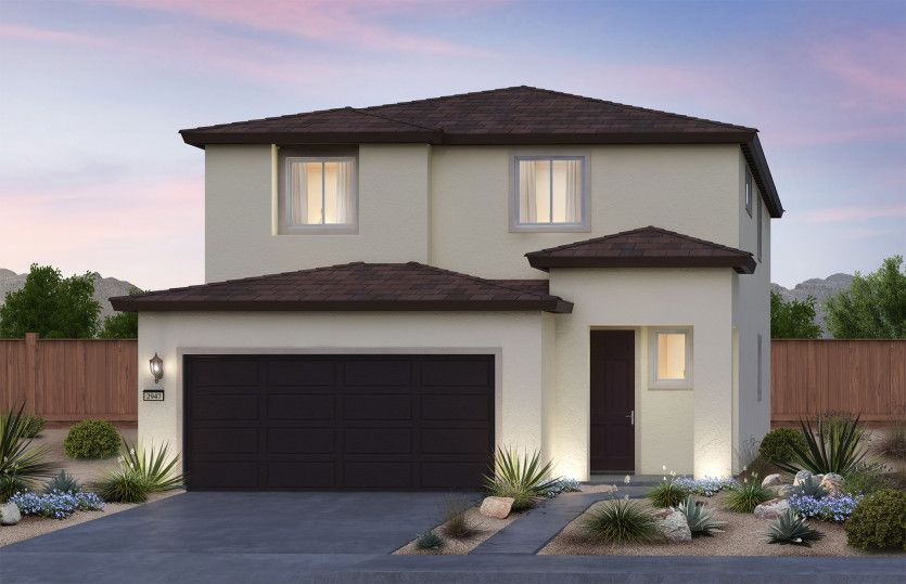 Exterior featured in the Saffron By Pulte Homes in Las Vegas, NV