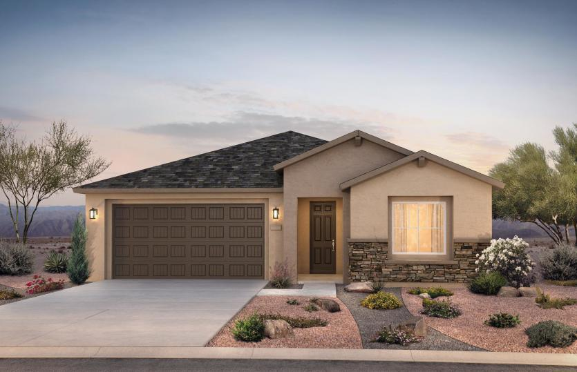 Exterior featured in the Brownstone By Pulte Homes in Albuquerque, NM