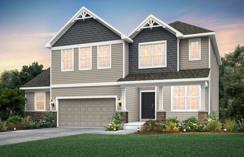Exterior featured in the Greenfield By Pulte Homes in Indianapolis, IN