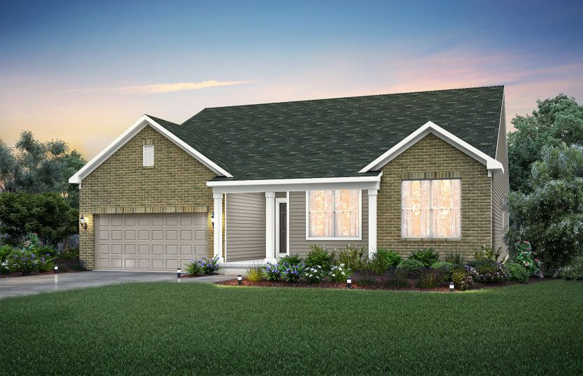 Exterior featured in the Amberwood By Pulte Homes in Indianapolis, IN