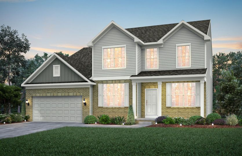 Exterior featured in the Riverton By Pulte Homes in Indianapolis, IN