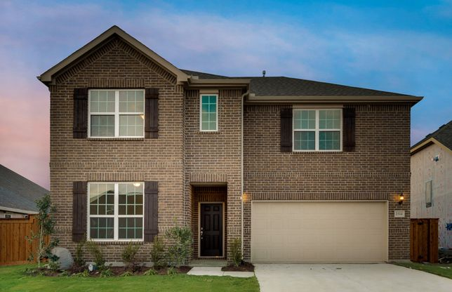 Lockhart:The Lockhart, a 2-story new construction home with shutters, shown with Home Exterior A