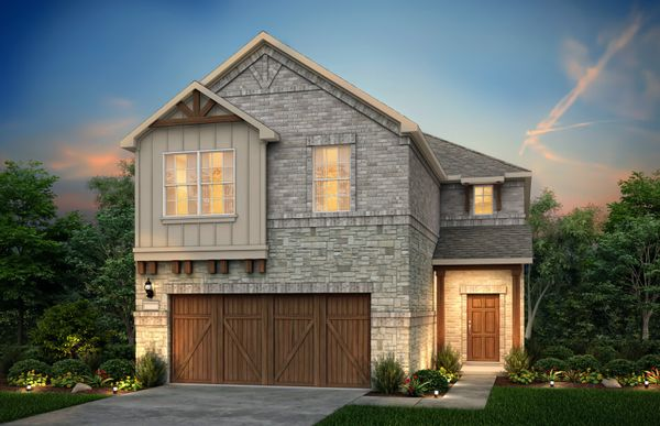 Rybrook:The Rybrook, a two-story home with 2-car garage, shown with Home Exterior N