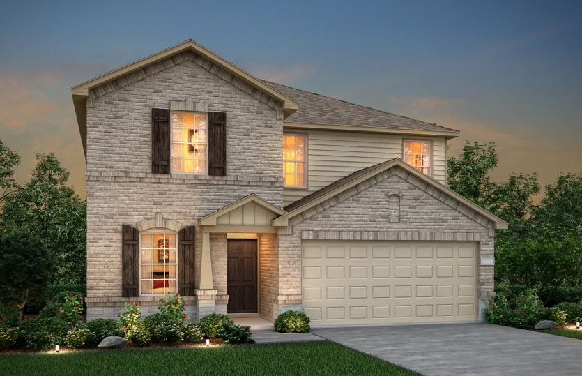 Exterior featured in the Sandalwood By Pulte Homes in Fort Worth, TX