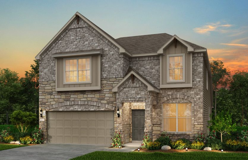 Exterior featured in the Hamilton By Pulte Homes in San Antonio, TX