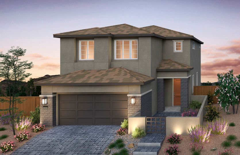 Exterior featured in the Camelia By Pulte Homes in Las Vegas, NV