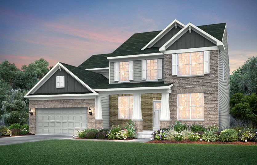 Exterior featured in the Hilltop By Pulte Homes in Indianapolis, IN