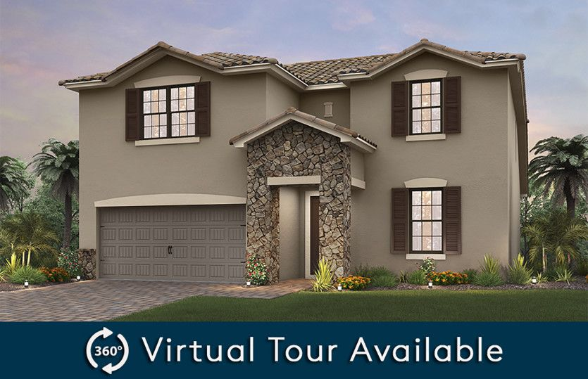 Citrus Grove:The Citrus Grove, a two-story home with a 2 car garage, shown with Home Exterior FM2A