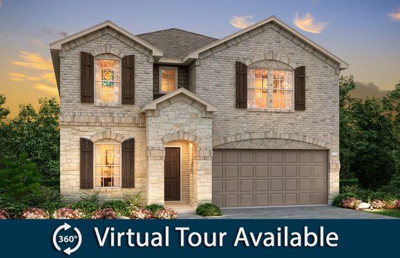 Kisko:The Kisko, a two-story home with 2-car garage, shown with Home Exterior Q
