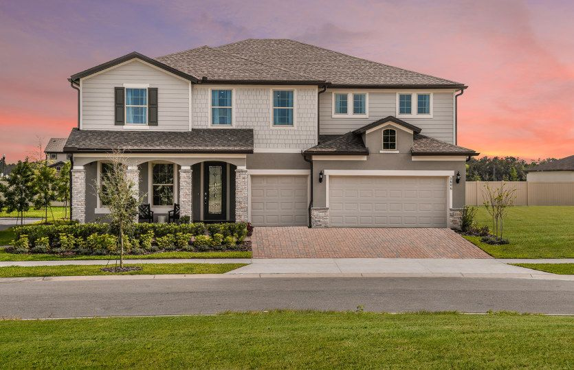 Exterior featured in the Mariner By Pulte Homes in Orlando, FL