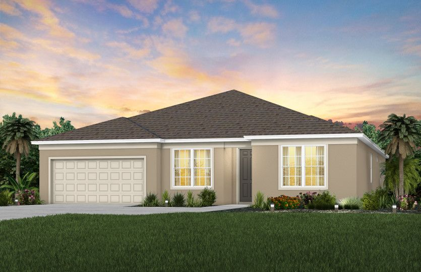Exterior featured in the Easley By Pulte Homes in Orlando, FL
