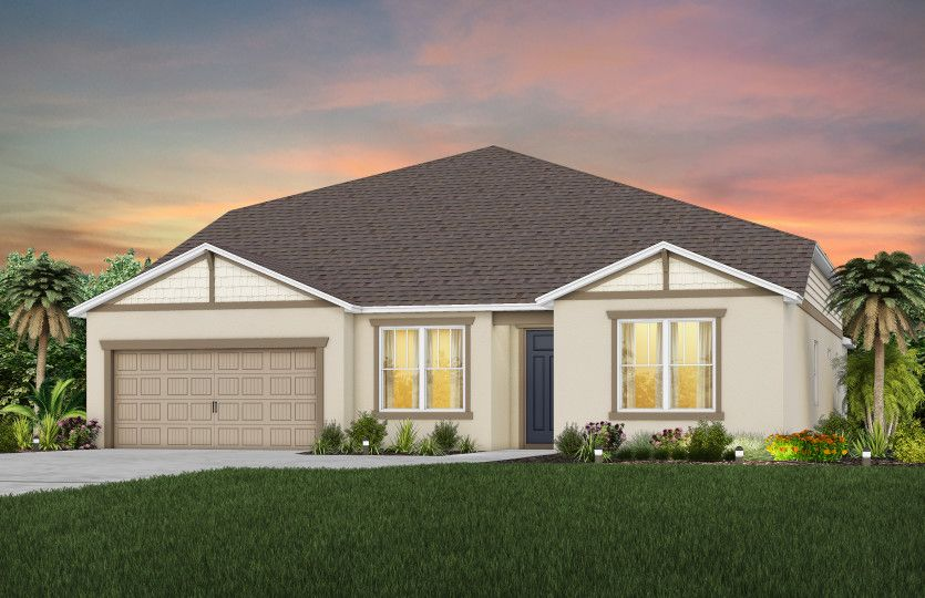 Exterior featured in the Easley Grand By Pulte Homes in Orlando, FL