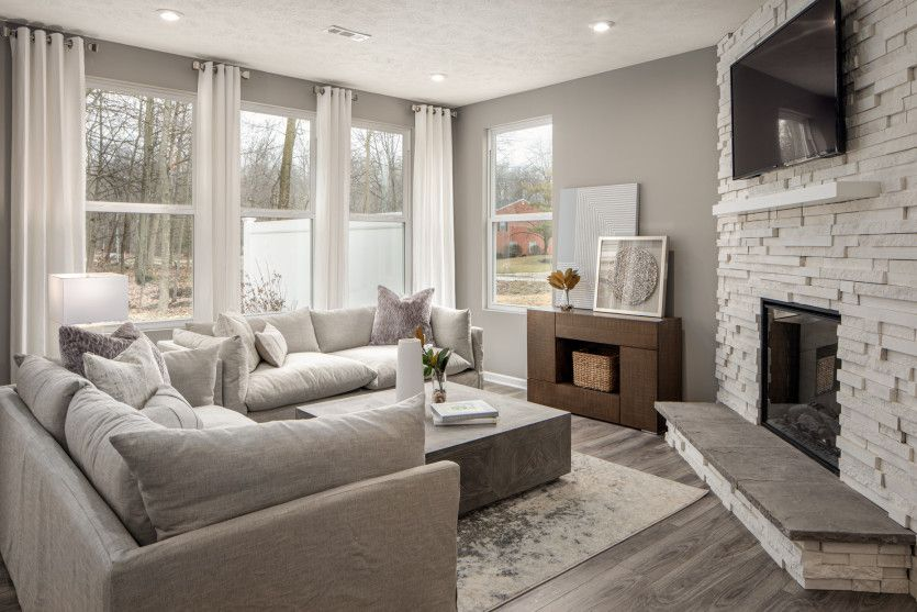 Living Area featured in the Ashton By Pulte Homes in Cleveland, OH